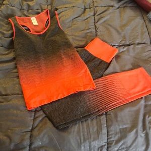 Workout clothes top and bottoms